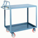 Little Giant® Ergonomic Welded Shelf Truck ERLG-2448-BRK, Flush Top Shelf, 24 x 48