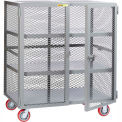Little Giant® Mobile Storage Locker, 2 Center Shelves, 30 x 72, Poly Whls