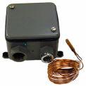 "BriskHeat® Bulb & Capillary Temperature Controller TB250N-150 50 To 150°F 3/8""Wx7/16'L"