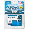 P-Touch TZ Tape Cartridge, TZ Standard Laminated Tape, Black on White, 1-1/2W