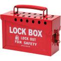 "Brady® 65699 13 Lock Portable Metal Lock Box, Steel, 9""W x 6""H"