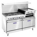 "Restaurant Series Range, 60"", Lp Gas, 278,000 BTU  With 24"" Griddle On Left"