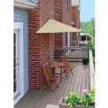 TERRACE MATES® BISTRO Deluxe 7.Outdoor 5 Ft. Antique Beige Olefin Outdoor 5 Pc. Set