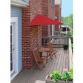 TERRACE MATES® BISTRO Deluxe 7.Outdoor 5 Ft. Red Olefin Outdoor 5 Pc. Set