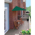 TERRACE MATES® BISTRO Deluxe 7.Outdoor 5 Ft. Green SolarVista Outdoor 5 Pc. Set