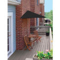 TERRACE MATES® BISTRO Economy 7.Outdoor 5 Ft. Black Sunbrella Outdoor 5 Pc. Set