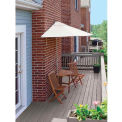 TERRACE MATES® CALEO Deluxe 7.Outdoor 5 Ft. Natural Sunbrella Outdoor 5 Pc. Set