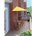 TERRACE MATES® CALEO Deluxe 7.Outdoor 5 Ft. Yellow Sunbrella Outdoor 5 Pc. Set