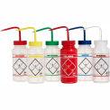 Bel-Art LDPE Wash Bottles 116460050, 500ml, Assortment Label, Wide Mouth, 6/PK
