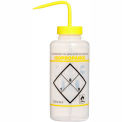 Bel-Art LDPE Wash Bottles 116462432, 1000ml, Isopropanol Label, Yellow Cap, Wide Mouth, 6/PK