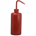 Bel-Art Red LDPE Wash Bottles 116500016, 500ml, Red Cap, Narrow Mouth, 6/PK