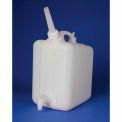 "Bel-Art HDPE Jerrican with Spigot 11859-0010, 5 Liters, Screw Cap, 1"" I.D. Spout, White, 1/PK"