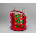 Bel-Art No-Wire™ Round Rack 187431016, Polypropylene, For 13-16mm Tubes, 14 Places, Red, 1/PK