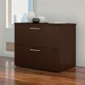 "Bush Furniture 36""W 2 Drawer Lateral File Cabinet - Mocha Cherry - 400 Series"