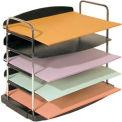 5 Pocket Horizontal Desk Tray - Black
