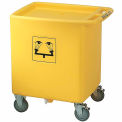 "Bradley® S19-399 Waste Cart Assembly for S19-921, 29-3/4"" x 22-1/3"" x 33"", 56 Gallon Capacity"