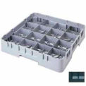 """Cambro 16S1058110 - Camrack  Glass Rack 16 Compartments 11"""" Max. Height Black NSF - Pkg Qty 2"""