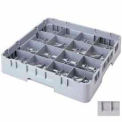 """Cambro 16S534151 - Camrack  Glass Rack 16 Compartments 6-1/8"""" Max. Height Soft Gray NSF - Pkg Qty 4"""