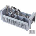 "Flatware Washing Basket 4-3/4"" Max. Height, 8-Compartments, no handles, Soft Gray, NSF"