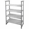 "Camshelving® Elements Starter Unit, 21""W x 48""L x 64""H, 4 Shelf, Brushed Graphite"