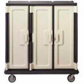 "Meal Delivery Cart Tall Profile, 3 Doors, 60x29-1/4x63-5/8, 6"" Phenolic HD Casters, Granite Gray"