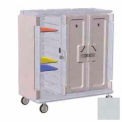 Meal Delivery Cart Tall Profile, 3 Doors, 60x29-1/4x63-5/8, Gray w/Cream Color Door