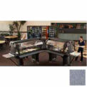 "Versa Food Bar Tray Rail Only, 72"", Granite Gray, NSF"