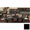 "Versa Food Bars™Work Table, Cold Food, 60"" x 36"" (Standard), 6"" Swivel Casters , Black"