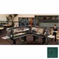 "Cambro VBRTHD6519 - Versa Food Bars™Work Table, Cold Food, 72"" x 36, Kentucky Green"