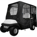Classic Accessories Fairway Deluxe Golf Car Enclosure, Long Roof, Black - 40-055-340401-00