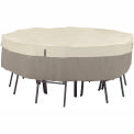 Classic Accessories Belltown Round Table and Chair Cover 55-252-011001-00 Medium, Grey