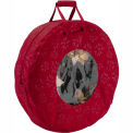 Seasons Debossed Fabric Wreath Storage Bag - Large