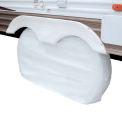 Classic Accessories OverDrive Dual Axle Wheel RV Cover, White, X-Large - 80-211-052801-00