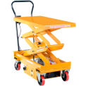 DC Power Hydraulic Scissor Cart - Double