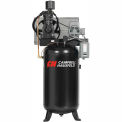 Campbell Hausfeld Two-Stage Electric Air Compressor CE7001, 208V-230V/460V, 7.5HP, 3PH, 80 Gal