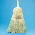 "Warehouse Broom All-Corn Bristles, 42"" Wood Handle Natural - BWK932CEA"