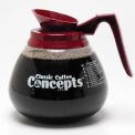 Classic Coffee Concepts 27000 - Decanter, Glass, 3-Pack, 12-Cup, Regular Coffee - Pkg Qty 3