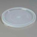 "Carlisle 125230 - Bains Marie Food Storage Container Lid 12-3/4"" D/ 3/4"", See Thru - Pkg Qty 6"