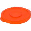 Bronco™ Waste Container Lid 20 Gal - Orange - Pkg Qty 6
