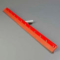 "Flo-Pac® Straight Red Gum Rubber Floor Squeegee -Heavy Duty Steel Frame 36"" - 4007700 - Pkg Qty 6"