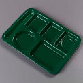 Left-Hand Heavy Weight 6-Compartment Tray - Forest Green