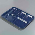 Left-Hand Heavy Weight 6-Compartment Tray - Caf© Blue