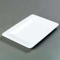 "Designer Displayware™ Wide Rim Rectangle Platter 14"" X 10"" - White"