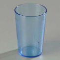 Carlisle 552654 - Stackable™ SAN Tumbler 8 Oz., Blue, Pebbled - Pkg Qty 72