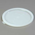 "Carlisle 060302 - Bains Marie Food Storage Container Lid 8-7/16"" x 3/8"", White - Pkg Qty 12"