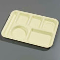 Left-Hand 6-Compartment Tray - Yellow