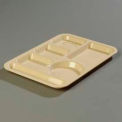 Left-Hand 6-Compartment Tray, ABS Tan
