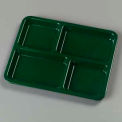 "4-Compartment Tray 10-15/16"", 8-21/32"", 5/8"" - Forest Green"