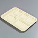 Left-Hand 6-Compartment Tray - Tan