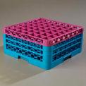 Carlisle RG49-3C414 - OptiClean 49-Compartment Glass Rack, w/3 Extenders, Lavender-Blue - Pkg Qty 2